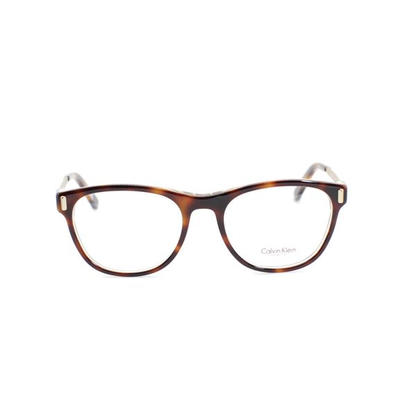 Calvin Klein Brown & Tortoise Rectangle Glasses CK8562-236-53