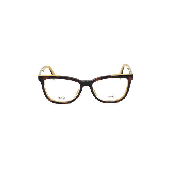 Fendi Tortoise Rectangle glasses FF0122-MFR