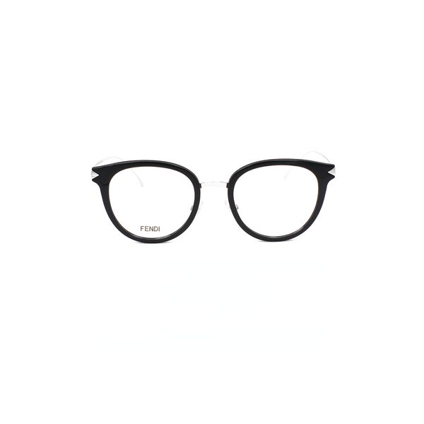 Fendi Black & Silver Round glasses FF0166-RMG