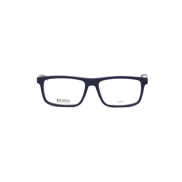 Boss Matte Blue Rectangle Glasses 0876-05X