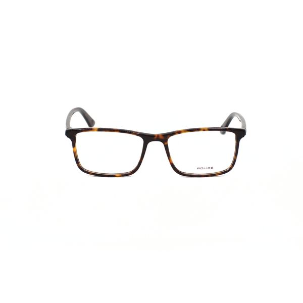 Police Tortoise Rectangle Glasses VPL467-0722-53
