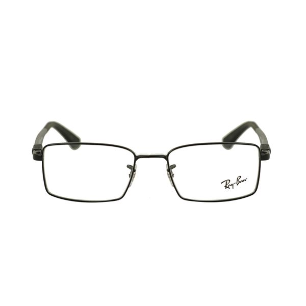 Ray-Ban Matte Black Rectangle Glasses RX6275-2503-52