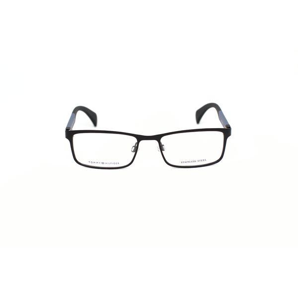 Tommy Hilfiger Black Rectangle Glasses TH1259-NIO