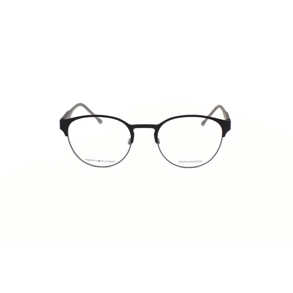 Tommy Hilfiger Matte Black Round Glasses TH1395-R12