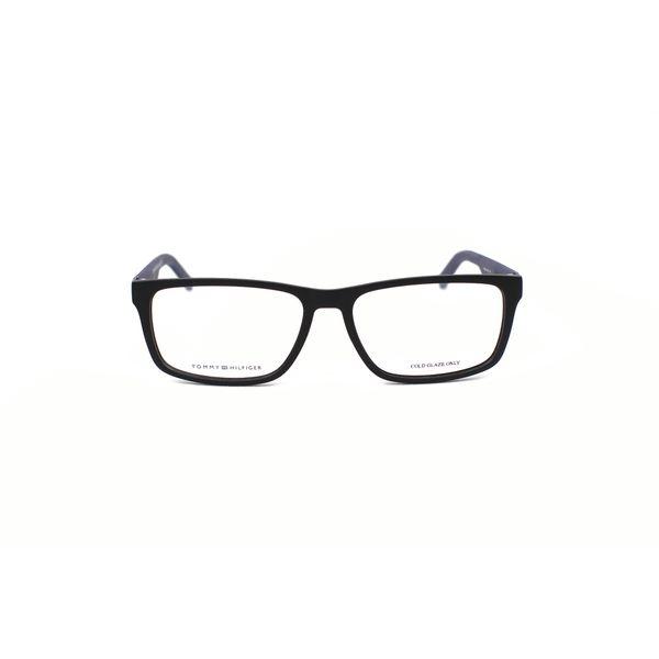 Tommy Hilfiger Matte Black Rectangle Glasses TH1404-R5Y
