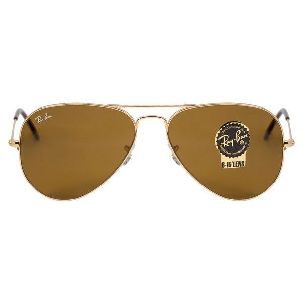 Ray-Ban Gold Aviator Sunglasses RB3025-133-58