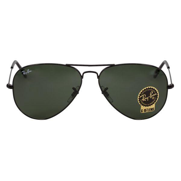 Ray-Ban Black Aviator Sunglasses RB3025-L2823-58