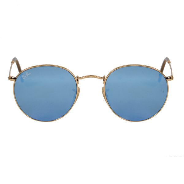 Ray-Ban Gold Round Sunglasses RB3447N-0019O-50