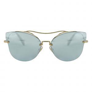 Miu Miu Gold Cat Eye Sunglasses MU52SS-ZVN5Q0-62