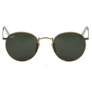 Ray-Ban Gold Round Sunglasses RB3447-001-50