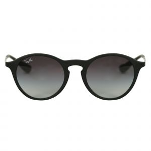 Ray-Ban Black Round Sunglasses RB4243-6228G-49