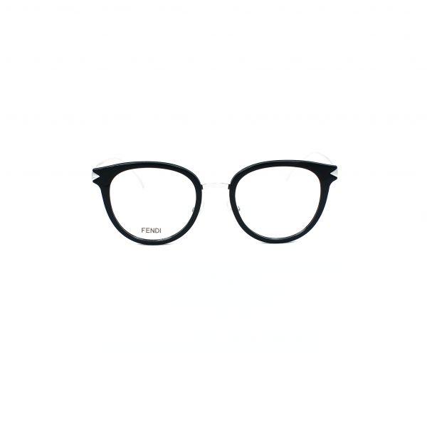 Fendi Black & Silver Round glasses FF0166-RMG