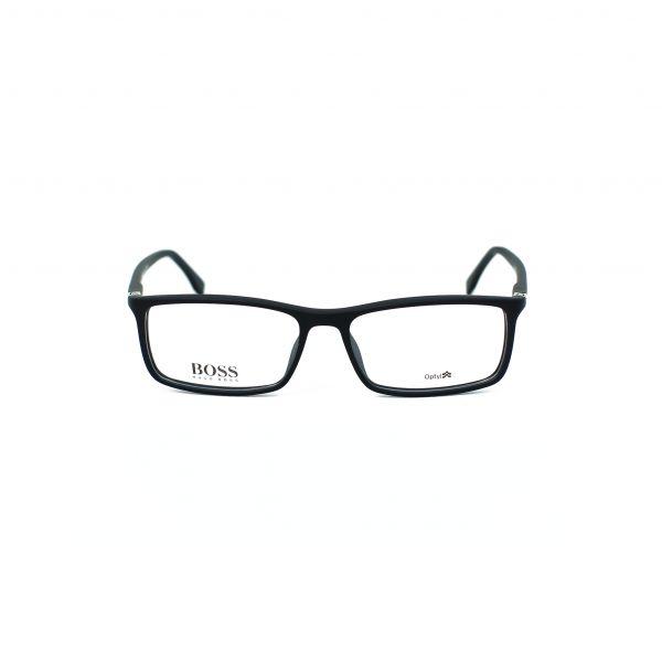 Boss Matte Black Rectangle Glasses 0680-V3Q