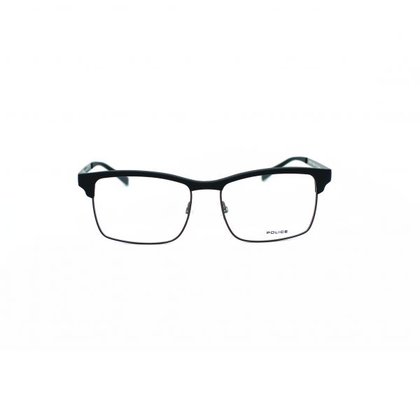 Police Black Rectangle Glasses VPL260M-06AA-54