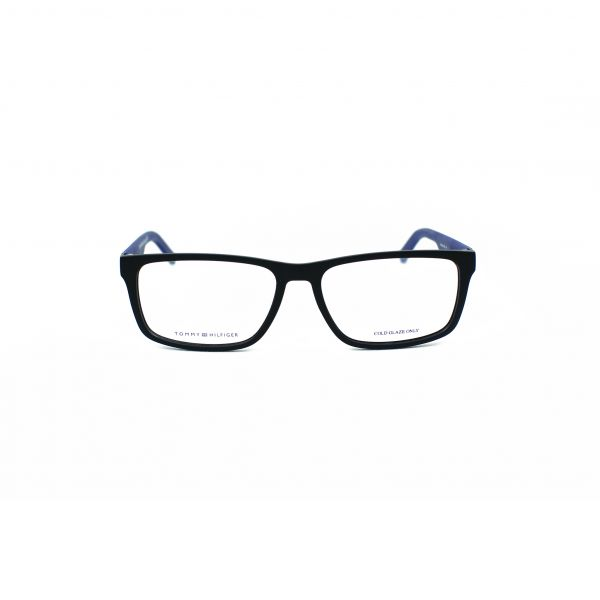 Tommy Hilfiger Matte Black Rectangle Glasses TH1404-R5Y
