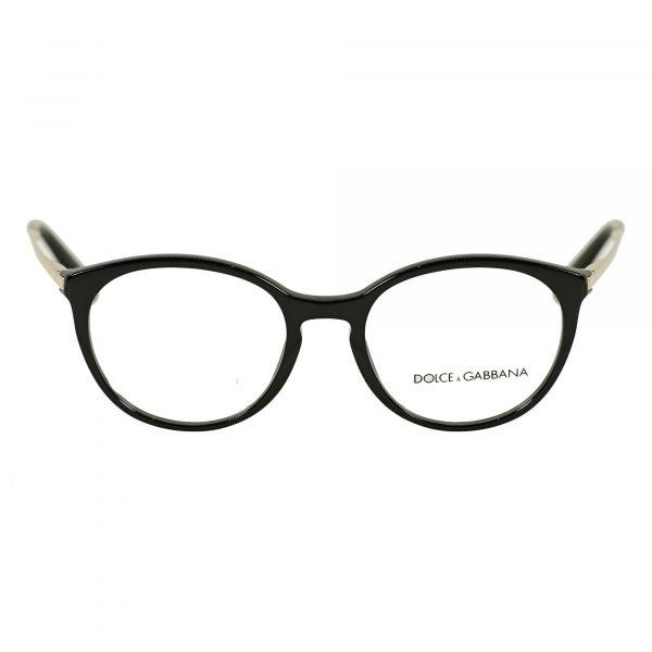 Dolce & Gabbana Black Round Glasses DG3242-501-50