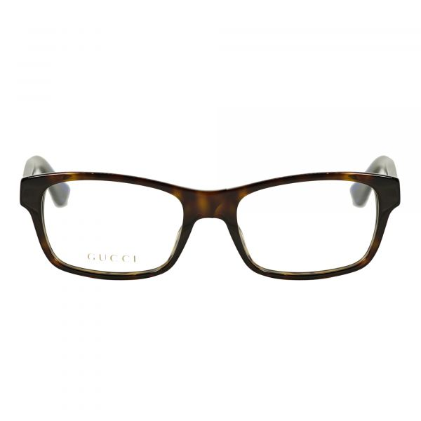 Gucci Tortoise Rectangle Glasses G0006O-007-55