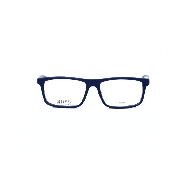 Boss Matte Blue Rectangle Glasses 0876-05X