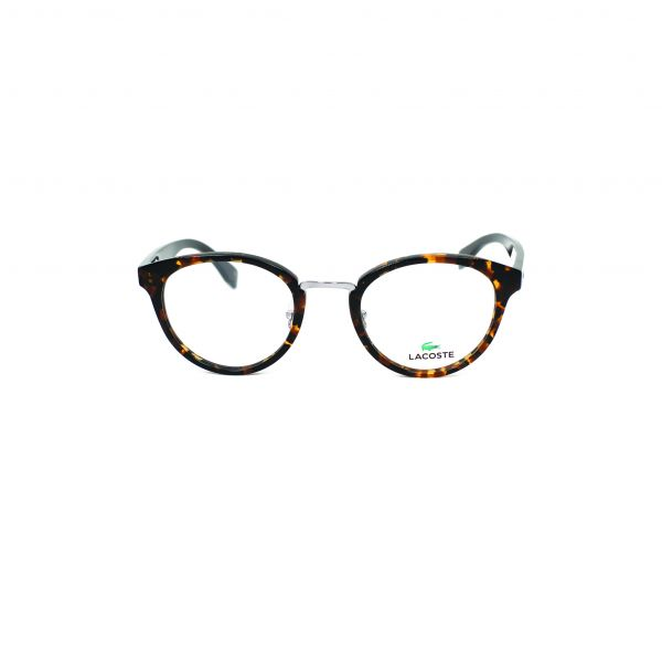 Lacoste Tortoise & Silver Round glasses L2777-214