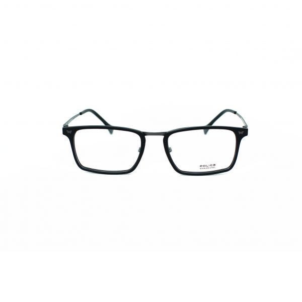 Police Black Rectangle Glasses VPL248-627N-53