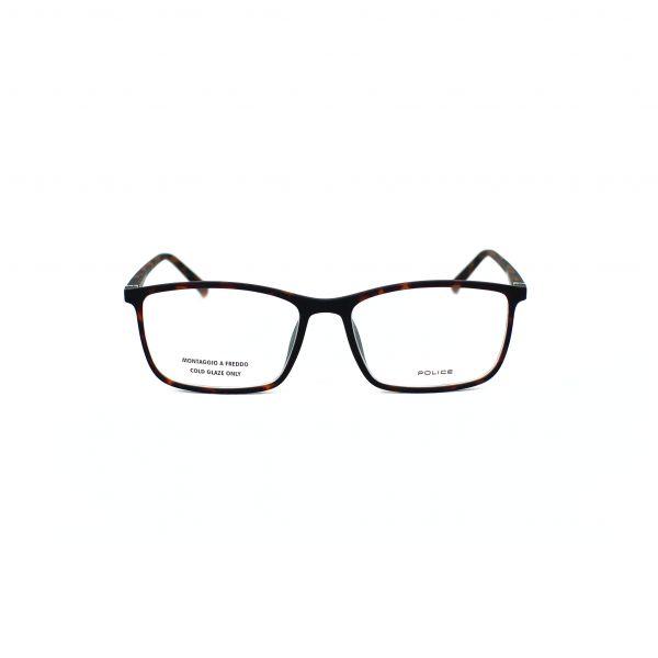Police Tortoise Rectangle Glasses VPL255M-0V50-55