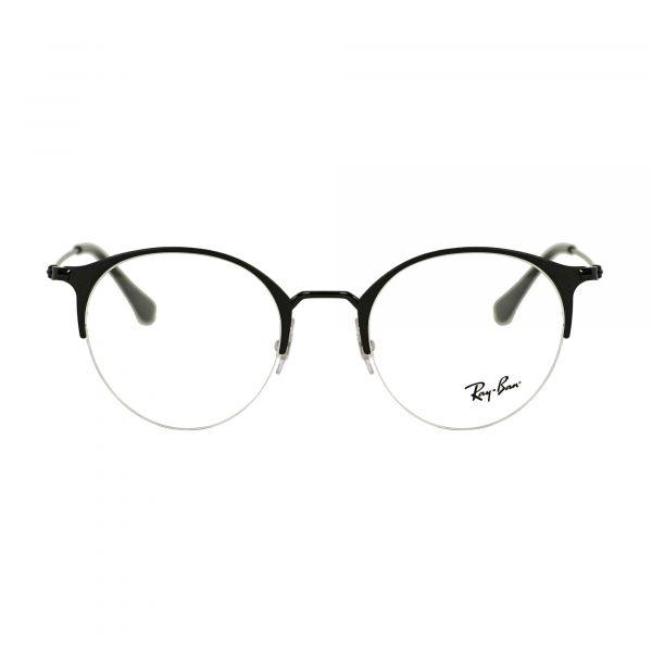 Ray-Ban Matte Black Round Glasses RX3578V-2904-50