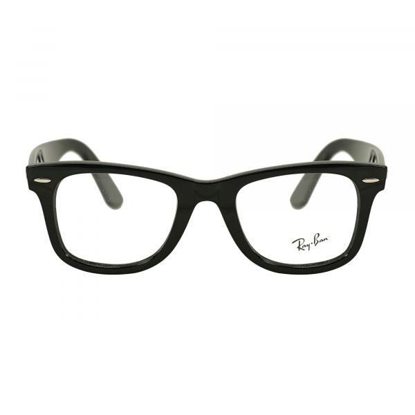 Ray-Ban Black Square Glasses RX4340V-2000-50