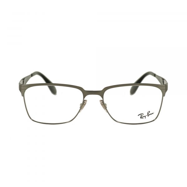 Ray-Ban Silver Square Glasses RX6344-2553-54