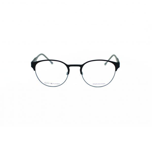 Tommy Hilfiger Matte Black Round Glasses TH1395-R12