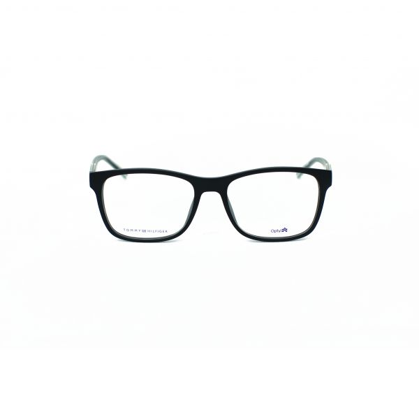 Tommy Hilfiger Matte Black Square Glasses TH1444-EI7