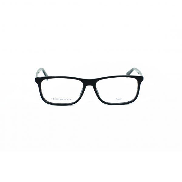 Tommy Hilfiger Black Rectangle Glasses TH1452-A5X