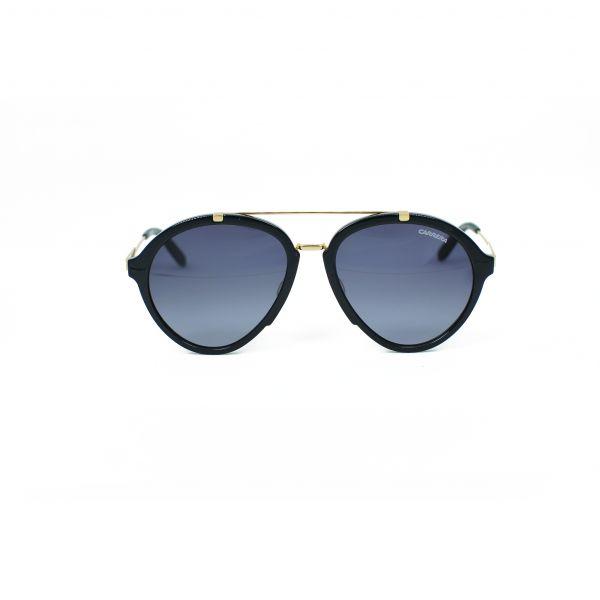 Carrera Black & Gold Aviator Sunglasses 125-S-6UBHD