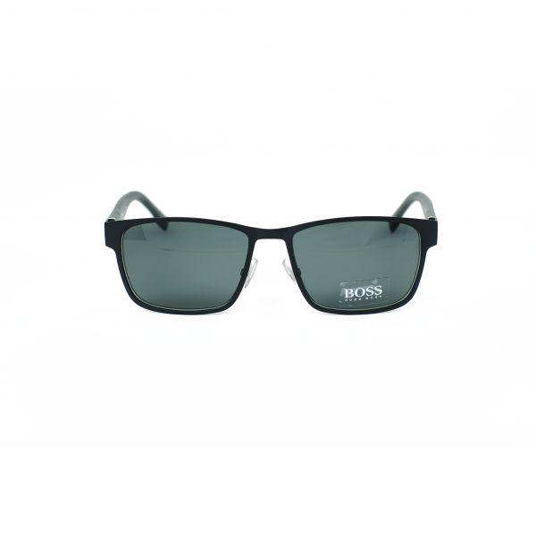 Boss Matte Black Rectangle Sunglasses 0769S-QMM-57