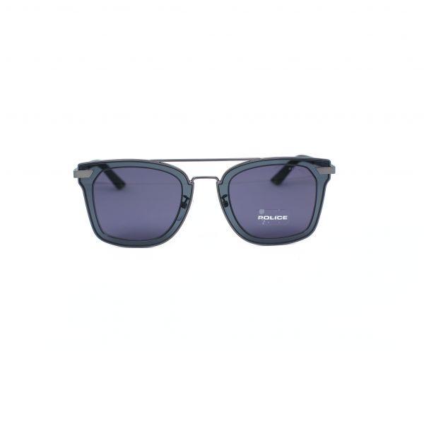 Police Gray Square Sunglasses SPL348M-0627-49