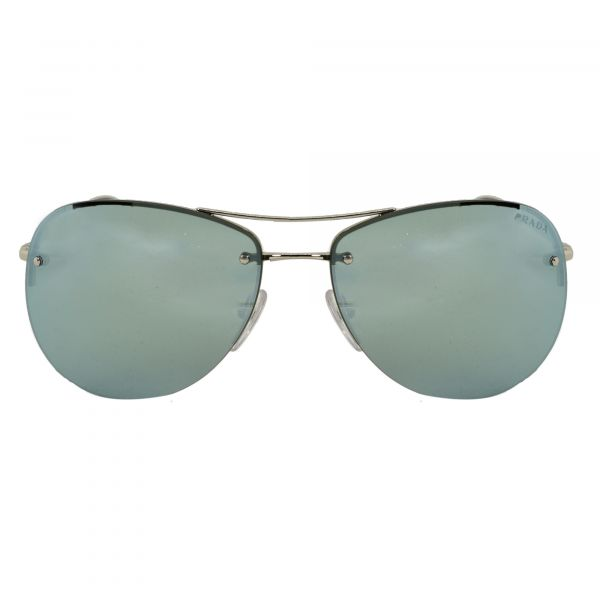 Prada Linea Rossa Silver Aviator Sunglasses PS50RS-1BC5K2-62