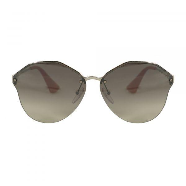 Prada Silver Round Sunglasses PR64TS-1BC4S1-66