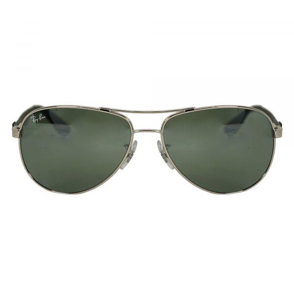 Ray-Ban Silver Aviator Sunglasses RB8313-340-58